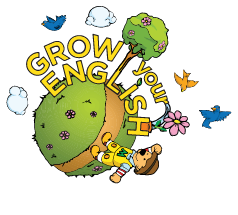logo grow your english giochi inglese albero di momo